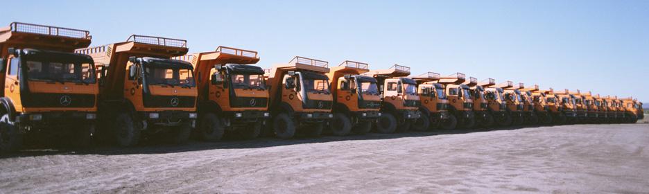 fila camiones